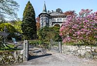 Idyllic restaurant and castle Zuckerbergschloss, Kappelrodeck, Germany at the foothills of the Northern Black Forest.