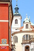 Czech Republic, Prague - The Old Town - Church of St. Salvator.