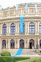 Prague - Rudolfinum Concert Hall during Prague Spring Festival.