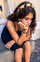 Girl thinking.