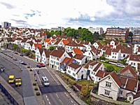 Old Stavanger, Norway, also known as Straen, is a community of 173 wooden buildings (mostly white) and is the largest surviving wooden house settlemen...
