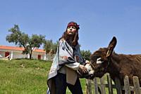 Barbara, owner of the Terra do Sempre guesthouse near Grandola, Alentejo region, Portugal, southwertern Europe.