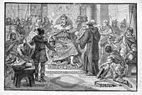 France. Charlemagne, getting all the laws written. Charlemagne or Charles the Great (2 April 742 - 28 January 814), numbered Charles I, was King of th...