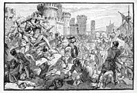 France. Inhabitants of Paris defending against the Normans. The Normans (Norman: Normaunds; French: Normands; Latin: Normanni) were the people who, in...