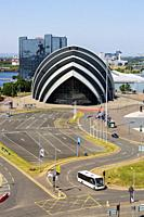 Scottish Exhibition and Conference Centre, also known as the Armadillo because of its shape, a famous concert venue, Anderston, Glasgow, Scotland.