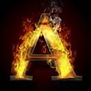 A, fire letter illustration.