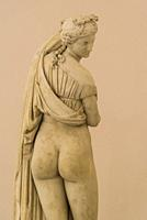 Venus Kallipygos statue, National Archaeological Museum, Naples, Italy.