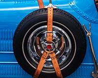 Spare wheel, Antique car show, Northeast Philadelphia, PA, USA.