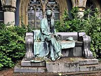 Inner yard sculpture , Vajdahunyad Castle, Hungary, Budapest, Europe,.