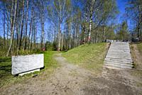"Funeral mound Diary of Tanya Savicheva. Memorial Tsvetok Zhizni. """"Flower of Life"""" is a memorial complex, part of the Green Belt of Glory; was create..."