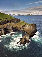 Bjarnarey Island, Westman Islands, Iceland.