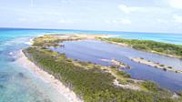 Aerial view Tropical beach of island Cayo Salt, Los Roques, Venezuela.