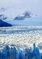 Perito Moreno Glacier, elevated view, Los Glaciares National Park, Santa Cruz Province, Patagonia, Argentina.