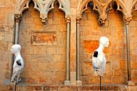 exhibition of busts of mannequins, Temps de Flors 2018, Girona, Catalonia, Spain