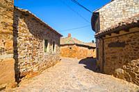 Street. Castrillo de los Polvazares, Leon province, Castilla Leon, Spain.