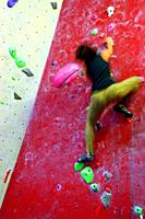 Climbing walls, Deu Dits center, Poble Nou, Barcelona, Catalonia, Spain