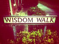Wisdom Walk street sign UK