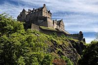 National War Museum of Edinburgh Castle fortress on the volcanic plug of Castle Rock in Edinburgh capital city of Scotland United Kingdom.