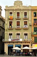 Mercadal Square of Reus, Tarragona. Catalonia, Spain.