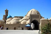 Bukhara, Uzbekistan - August 27, 2016: Toki Zargaron trading dome, a largest and the first of its kind in Bukhara, an interesting place that explains ...