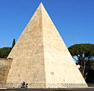 The Pyramid of Cestius is an ancient pyramid with in Rome, Italy, near the Porta San Paolo and the Protestant Cemetery.