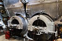Twin boilers of the steam powered tug boat the SS Master.