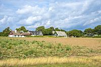 View of the village of Nyord on Nyord Island, Denmark, Scandinavia, Europe. Blick auf das Dorf Nyord auf der Insel Nyord, Dänemark, Skandinavien, Euro...