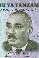 Portrait of Abeid Amani Karume from 500 shillings banknote, Tanzania, 2011.
