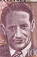 Portrait of Jorge Eliecer Gaitan from 1000 pesos banknote, Colombia, 2014.