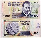 100 pesos banknote, Eduardo Fabini, Uruguay, 2011.