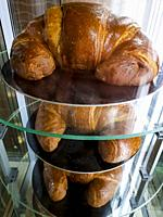 Large croissants on display.
