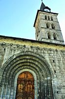 The Gothic church of San Juan. Arties town; Lleida province, Spain.