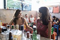 Sports Bar Scene with multiple people, lifestyle. Bucerias, Nayarit, Mexico.
