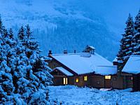 Canadian Rockies. Assiniboine Provincial Park.. Winter.