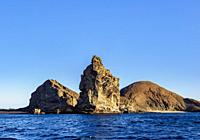 Pinnacle Rock on Bartolome Island, Galapagos, Ecuador.