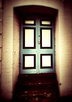 Old blue door UK