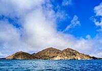 Landscape of Punta Pitt, San Cristobal or Chatham Island, Galapagos, Ecuador.