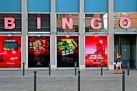gambling hall, bingo, Barcelona, Catalonia, Spain