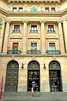 building of the old Bank of Spain, 1939, Antonio Maura Square, Barcelona, Catalonia, Spain