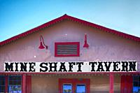 The Mine Shaft Tavern in Madrid, NM - the haunted historic place with the longest bar in New Mexico.