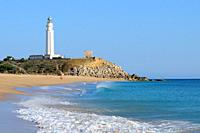Lighthouse of Trafalgar cape. Cádiz province. Andalucía. Spain