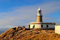 Lighthouse of Cabo Corrubedo. La Coruña province. Galicia. Spain