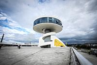 View of Niemeyer Center building in Aviles. The cultural center was designed by Brazilian architect Oscar Niemeyer.