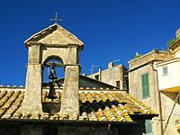 bell tower, Anguillaro Sabazia, Lazio Region, Italy.