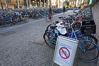 Bicycle parking at Groningen University.