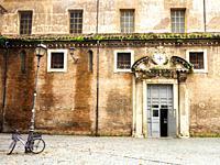 Building facade in Largo san Giovanni de Matha, Trastevere - Rome, Italy.