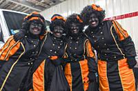 'Black Piet' helpers of Saint Nicolas. It is a Dutch but controversial cultural feast.