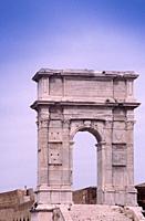 Italy, Marche, Ancona, Arco di Traiano, Arch of Trajan.