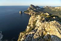 Mountainous landscape of Cap de Formentor, Majorca, Balearic Islands, Spain