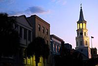 Dusk on historic Charleston.